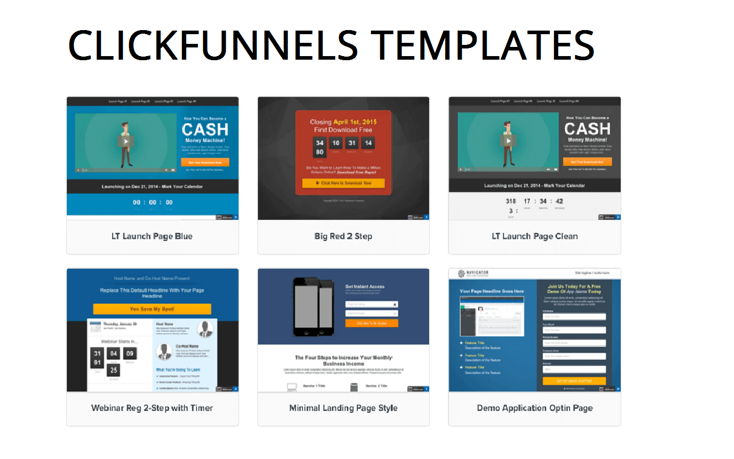 Clickfunnels Type Of Funnels best
