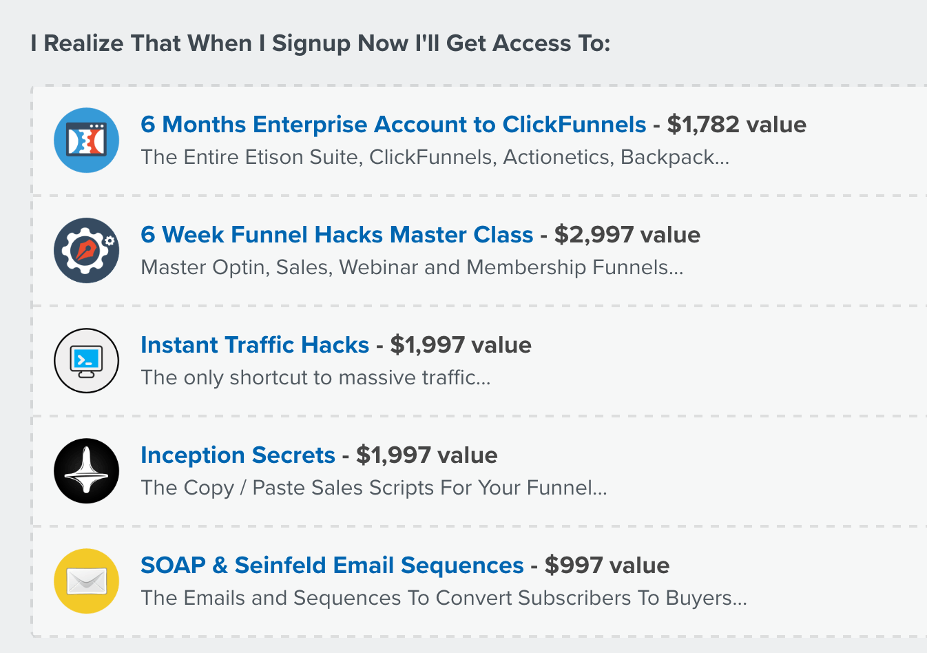 Clickfunnels Costs